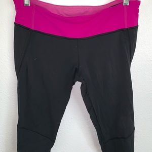 Euc Lululemon 8 Crop leggings